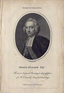 Moses Mendes (1690?–1758), playwright and poet