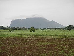 Mount Macolod - Image: Mount Macolod peak hidden by clouds