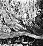 Mount Spurr, unnamed mountain glacier, and bergschrund on the upper portions of the mountain, September 22, 1992 (GLACIERS 6895).jpg