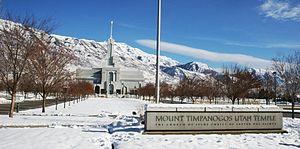 Mount Timpanogos Utah Temple - Mt. Timpanogos temple during winter.