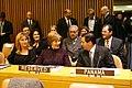 Mrs. Laura Bush Speaks with Panama's President Martin Torrijos at the United Nations.jpg