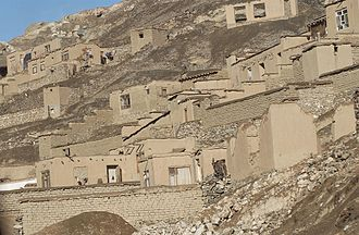 Earth structure - Mud houses in Kandahar, Afghanistan