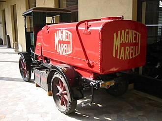 Magneti Marelli - Car manufactured by Magneti Marelli, preserved at the Museo nazionale della scienza e della tecnologia Leonardo da Vinci, Milan.