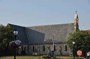 Trinity Episcopal Church (Muscatine, Iowa) - Image: Muscatine IA Trinity Episcopal Church