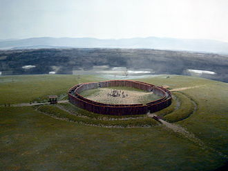 Neolithic circular enclosures in Central Europe - Reconstruction (model) of the Künzing-Unternberg rondel, Museum Quintana, Künzing, Lower Bavaria