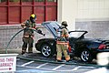 Mustang car fire at CVS on Key West Highway in North Potomac MD July 12 2012 (7575626992).jpg