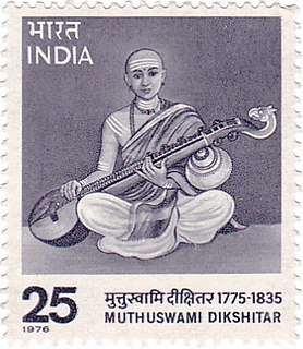 Muthuswami Dikshitar Indian poet and composer