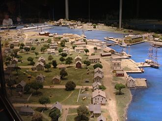 Mystic Seaport - Scale model of Mystic as it was about 1870