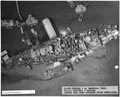 NASPH ^120140- 24 Dec 1943. USS Oklahoma - Salvage, Aerial view from overhead after refloating - NARA - 296921.tif