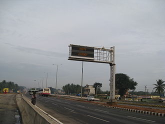 Road signs in India - A sign in Bengaluru