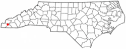 Location of Andrews, North Carolina