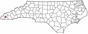 Andrews, North Carolina - Image: NC Map doton Andrews