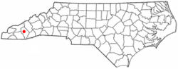 Location of Cullowhee, North Carolina