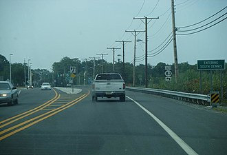 South Dennis, New Jersey - NJ Route 47 southbound approaching NJ Route 83 in South Dennis