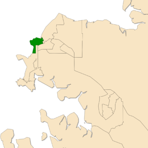 Electoral division of Nightcliff - Location of Nightcliff in the Darwin/Palmerston area