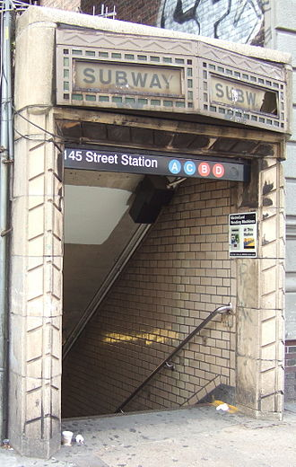 IND Eighth Avenue Line - Image: NYCS IND 8th Ave 145th St entrance
