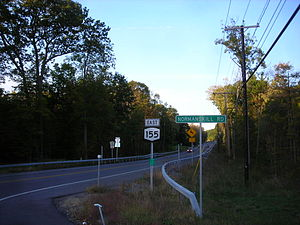 New York State Route 155 - NY 155 north of CR 306 in New Scotland