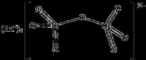 Sodium dichromate - Image: Na 2Cr 2O7