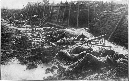 Nach Gasangriff 1917