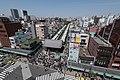 Nakamise, Asakusa, Tokyo as seen from the Asakusa Culture Tourist Information Center 20190420 2.jpg