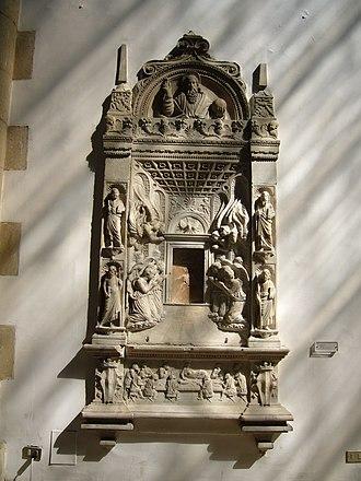 Domenico Gagini - tabernacle in the Cappella palatina in Castel Nuovo in Naples