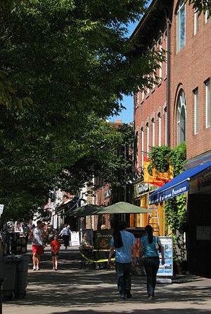 Borough of Princeton, New Jersey - Nassau Street, the main street of the Borough of Princeton