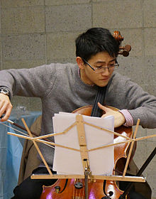Nathan Chan playing with String Theory at Columbia University