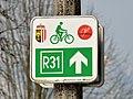 Nationalpark-Kalkalpenradweg R31 cycling route sign, St. Pankraz, Upper Austria.jpg