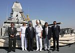 Nayeen Koomar Ballah, Mauritius Secretary of Home Affairs, and Vice Admiral SPS Cheema onboard INS Kolkata.jpg