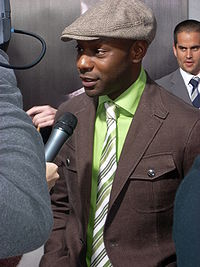 Nelsan Ellis at True Blood premiere party.jpg