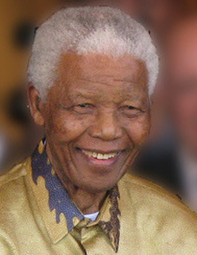 From commons.wikimedia.org: Nelson Mandela-2008 cropped {MID-247255}