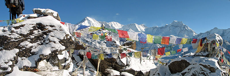 File:Nepal - Sagamartha Trek - Cho Oyu and prayer flags from Gokyo Ri (493502192).jpg