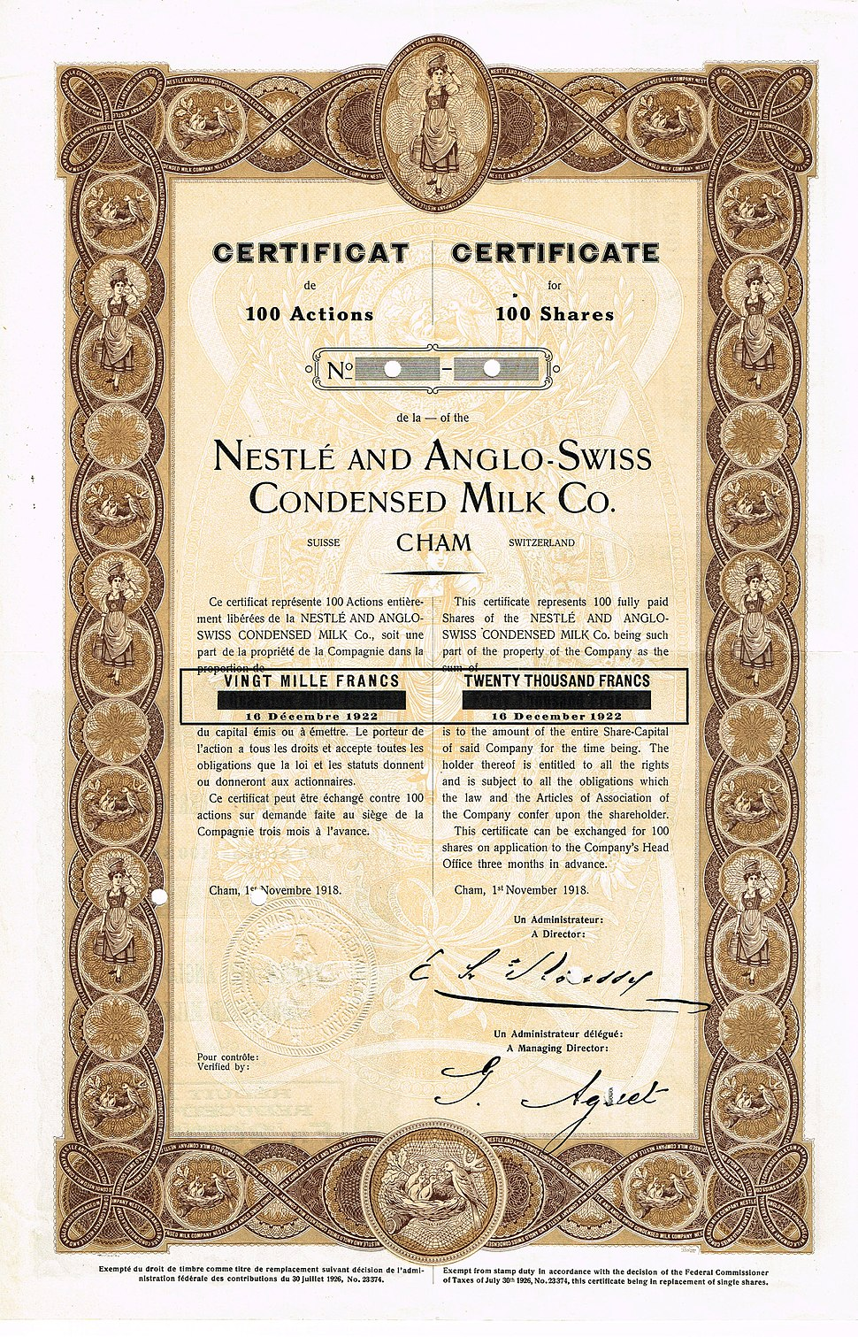 Nestle and Anglo-Swiss Condensed Milk 1918