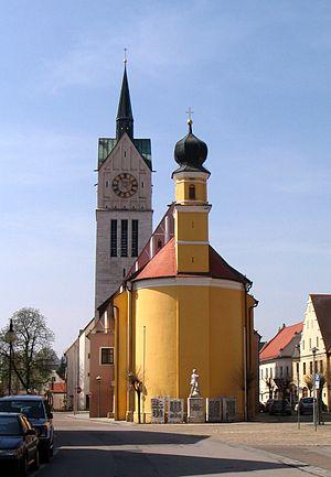 Neustadt an der Donau - Church of Laurentis and Anne