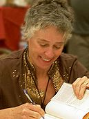 Nevada Barr signing books at the 2006 Bouchercon in Madison, Wisconsin.jpg
