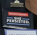 Nevertheless, She Persisted Elizabeth Warren button (42974626450).jpg