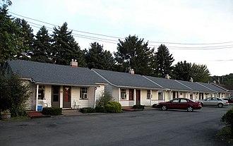 Neville Township, Pennsylvania - Image: Neville Motel Bungalows
