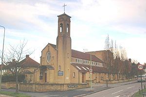 New Marston - Image: New Marston St Michael&All Angels southwest