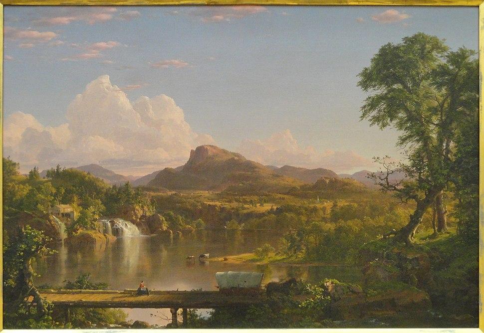 New England Scenery, Frederic Edwin Church, 1851 - Museum of Fine Arts, Springfield, MA - DSC03984