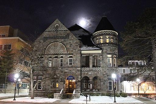 Newberry Hall at Night, (1891), University of Michigan, Ann Arbor, Michigan - panoramio