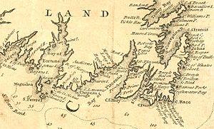 Newfoundland expedition (1702) - Image: Newfoundland 1744