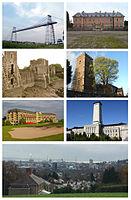 Collage von Bildern aus Newport