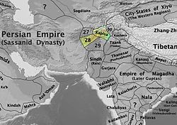 The Nezak kingdom in 565 CE