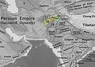 Nezak Huns - The Nezak kingdom in 565 CE