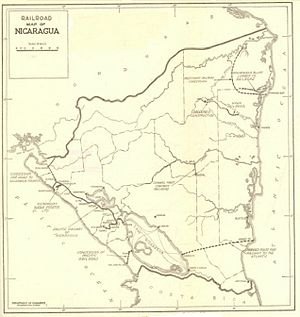 Rail transport in Nicaragua - Rail map as of 1925