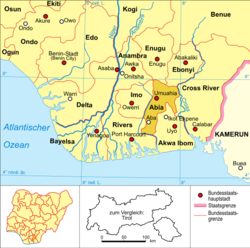 Aba in the state of Abia