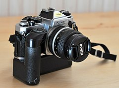 Nikon FE with motor drive MD12 and Nikkor AI 24mm-2.JPG