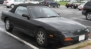 Nissan 240SX - Nissan 240SX convertible in the USA.