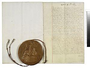 Treaty of Breda (1667) - Image: Nl Ha NA 1.01.02 12589.127 91 Vrede van Breda