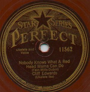 "Perfect Records - Disc featuring Cliff ""Ukulele Ike"" Edwards"
